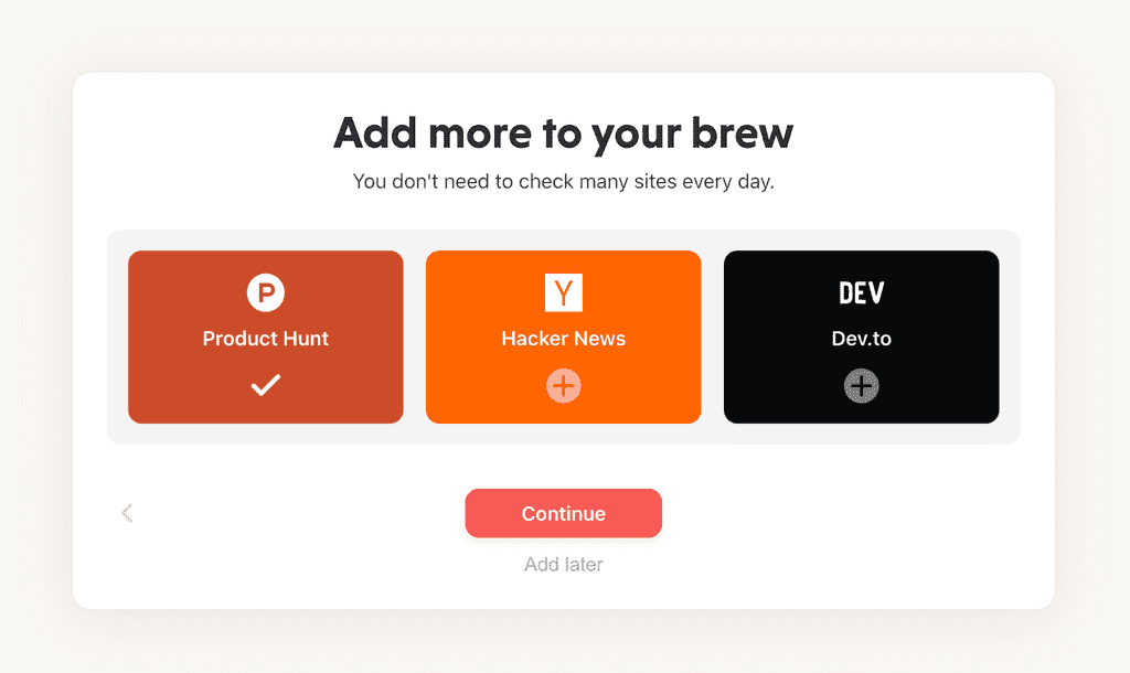 mailbrew new sources